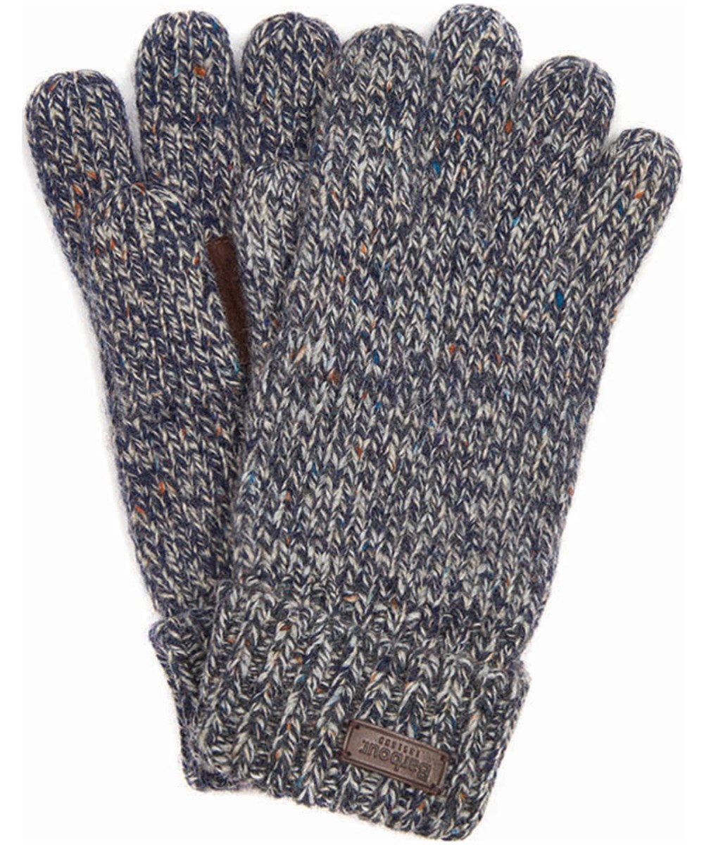 Barbour Whitfield Gloves Navy/Ecru