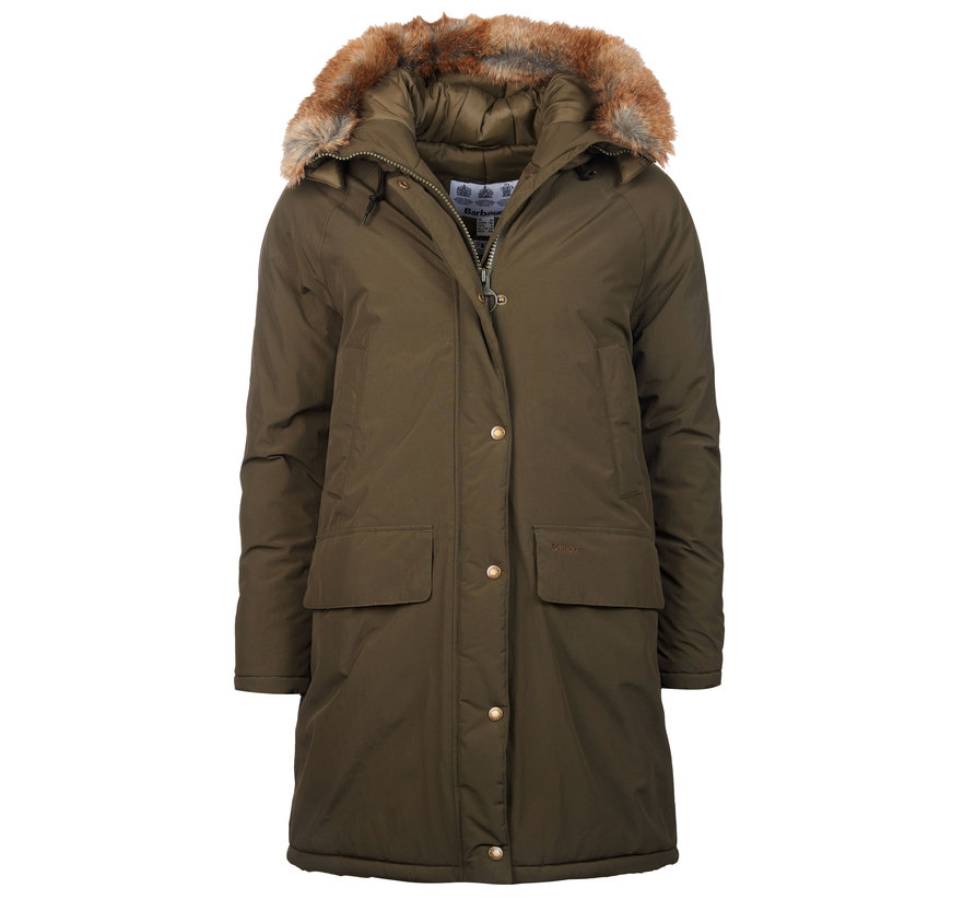 Barbour Emmott Jacket Oliva Barbour Heritage Relaxed Fit