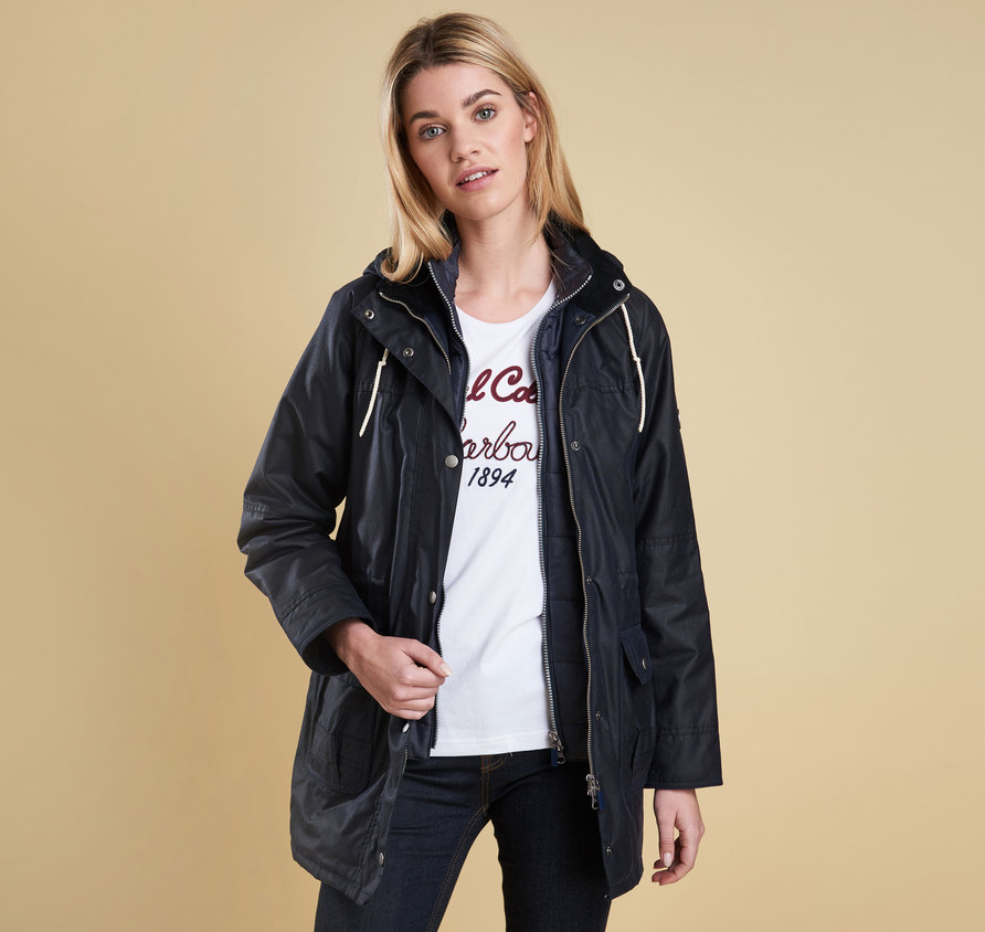 Barbour Barbour Seaton Wax Jacket Navy Barbour Lifestyle: Regular Fit