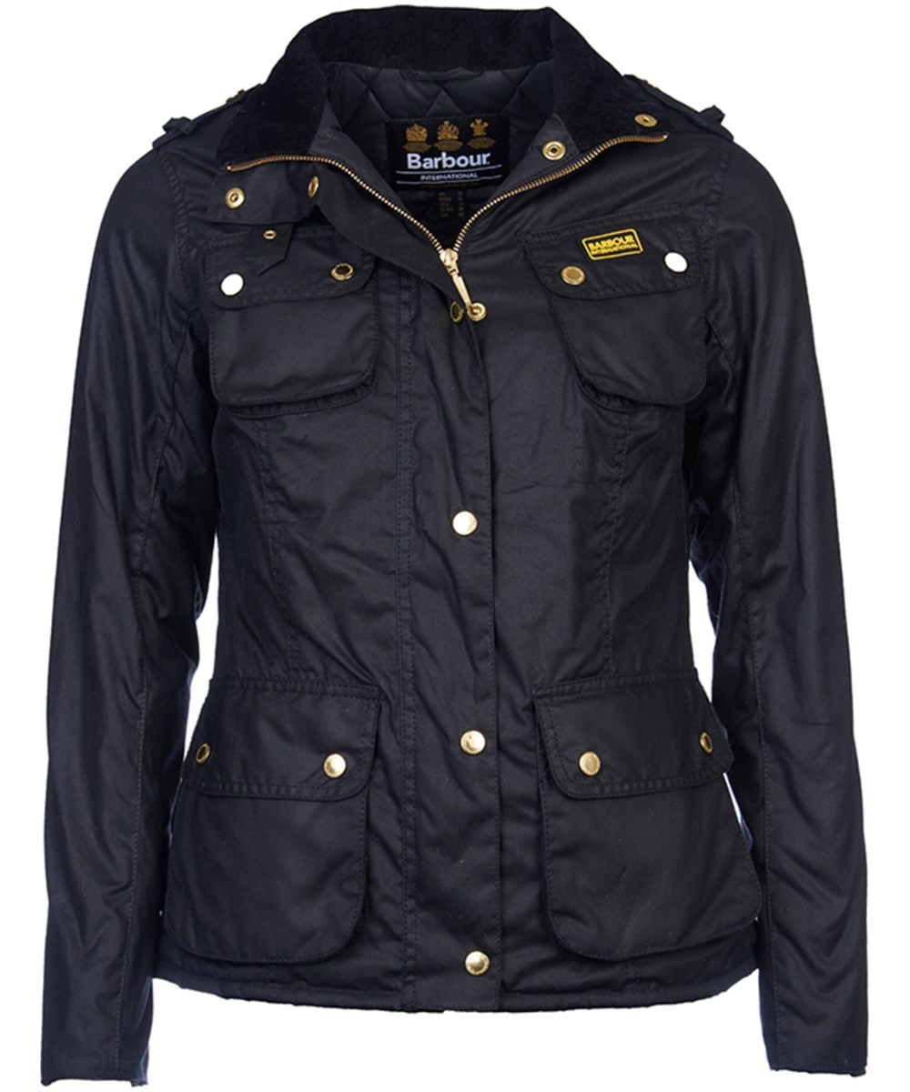 Barbour Barbour Fins Wax Jacket Black Barbour Lifestyle:From the Winter Tartan collection