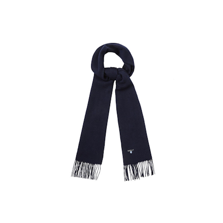 Barbour Barbour Plain Lambswool Scarf Navy Barbour Lifestyle: from the Classic capsule