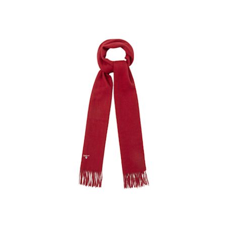 Barbour Barbour Plain Lambswool Scarf Red Barbour Lifestyle: from the Classic capsule