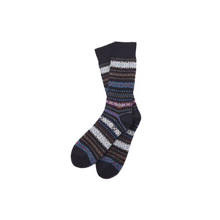 Barbour Boyd Sock Navy Barbour Heritage: from the Gun Room capsule