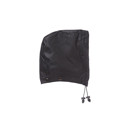 Barbour Waxed Cotton Hood Black Barbour LIfestyle: from the Classic capsule