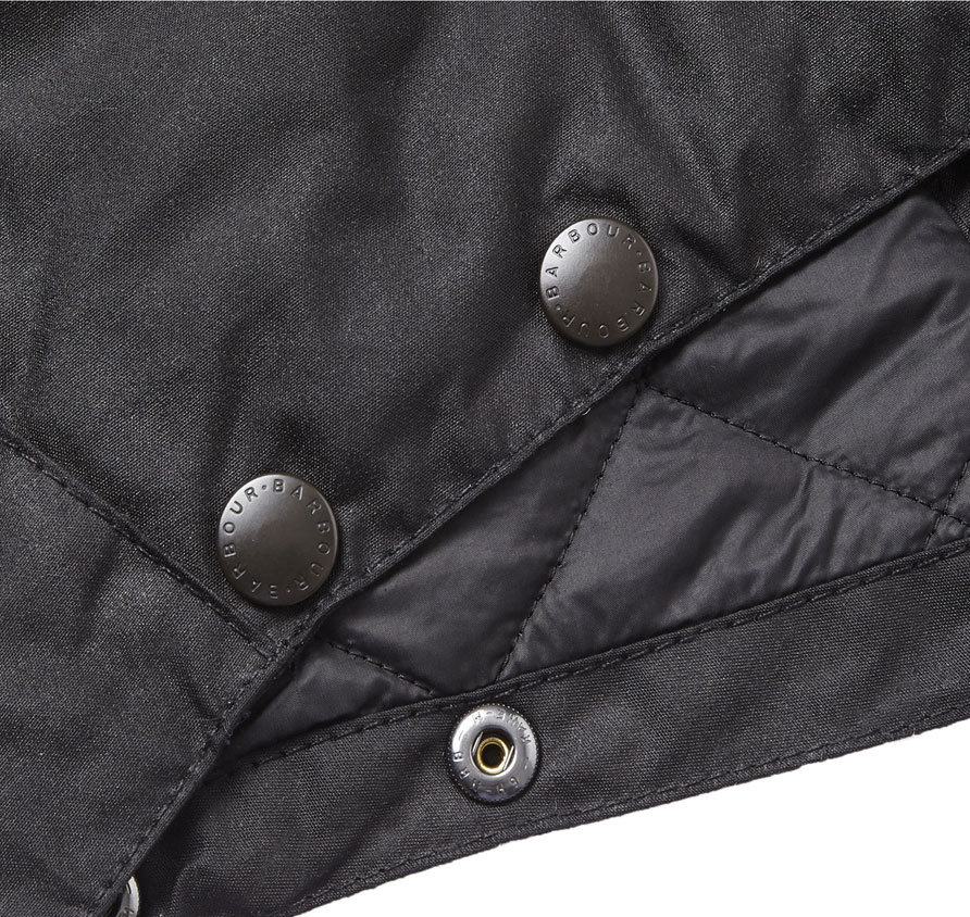 Barbour Waxed Storm Hood Black
