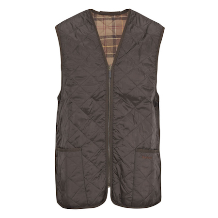 Barbour Quilted Waistcoat ZIp-in Liner Brown Barbour Lifestyle: from the Classic capsule