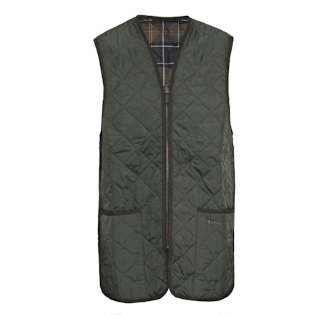 Barbour Quilted Waistcoat ZIp-in Liner oliva Barbour Lifestyle: from the Classic capsule