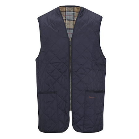 Barbour Quilted Waistcoat Zip in Liner Navy Barbour Lifestyle: from the Classic capsule