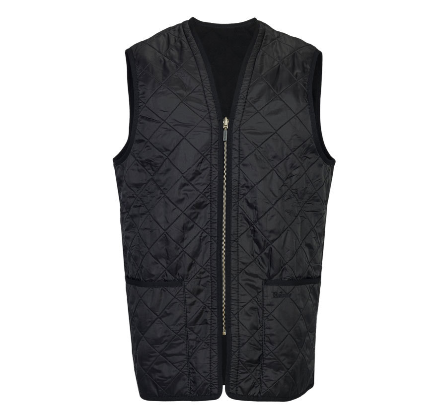 Barbour Polarquilt Waistcoat Zip-In Liner Black