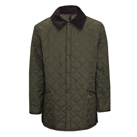 Barbour Liddesdale Quilted Jacket Olive Ideal para cubrir los trajes