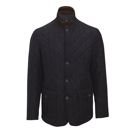 Barbour Quilted Lutz Jacket Navy Barbour Lifestyle: from the Classic Tartan capsule