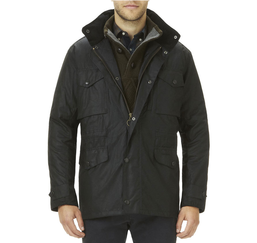 Barbour Sapper Waxed Jacket Black