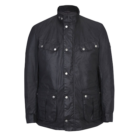 Barbour Duke Waxed Jacket Black Barbour International: from the World Tour capsule