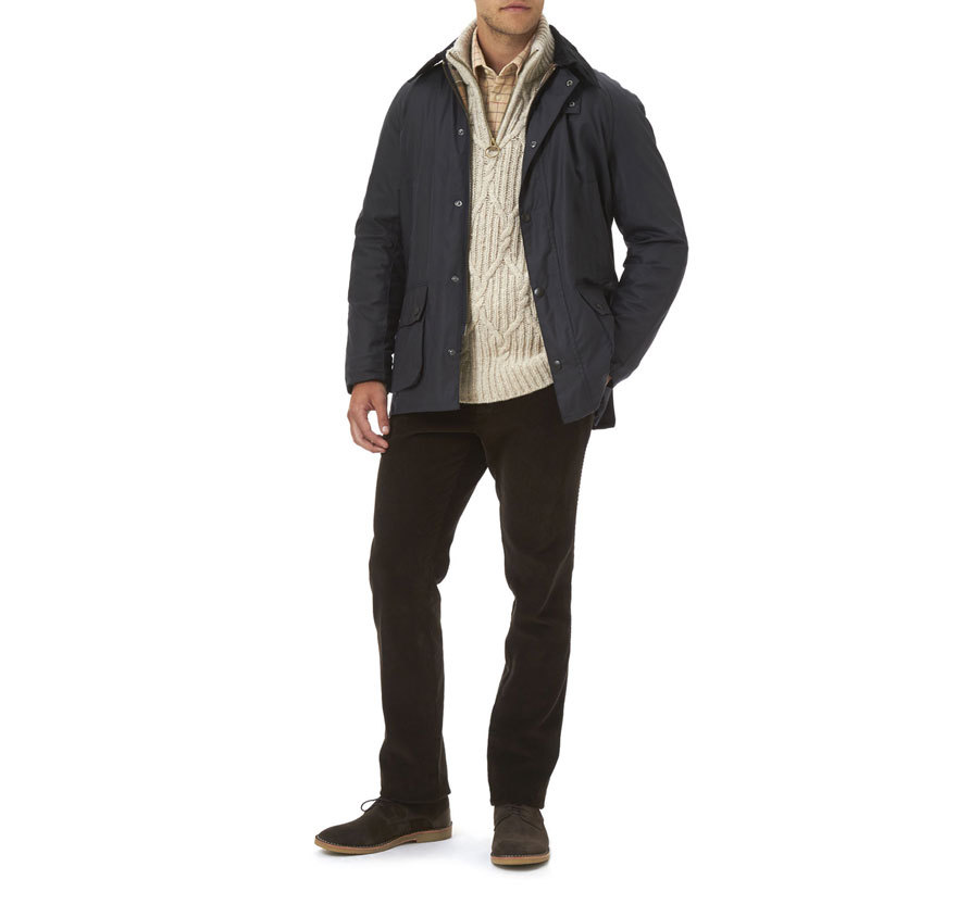Barbour Ashby Waxed Jacket Navy