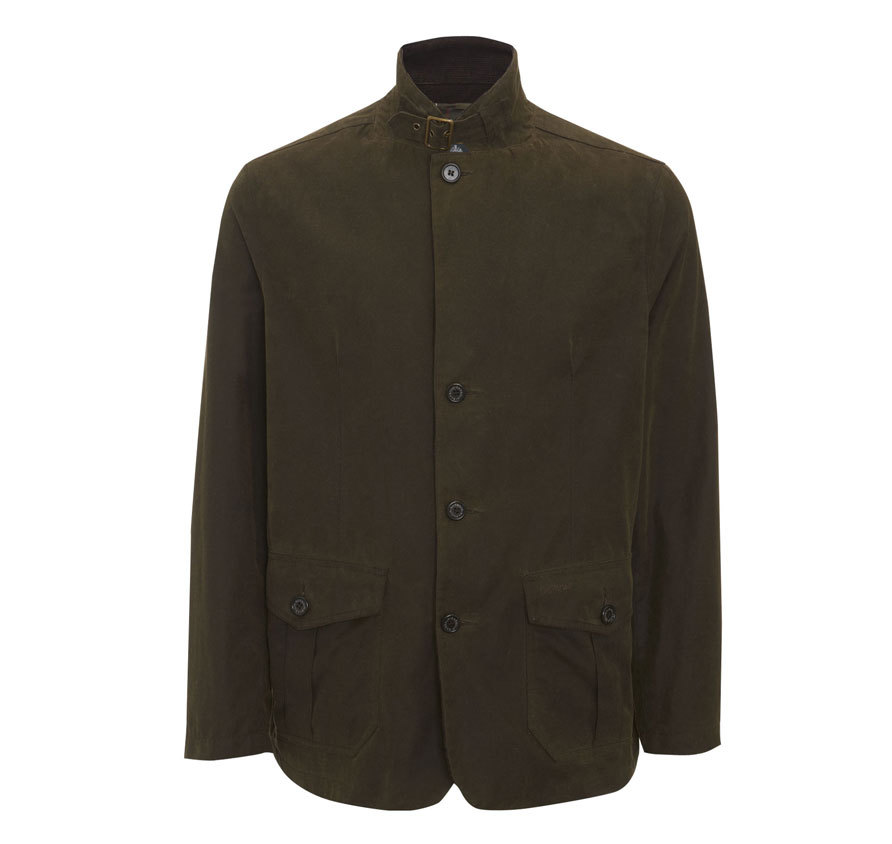 Barbour Barbour Lutz Waxed Jacket Oliva Barbour Lifestyle Collection - Relaxed Fit