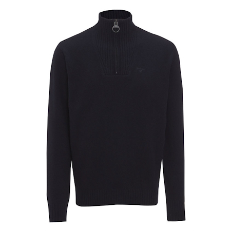 Barbour Essential Lambswool Half Zip Jumper Navy Barbour Lifestyle: from the Classic capsule