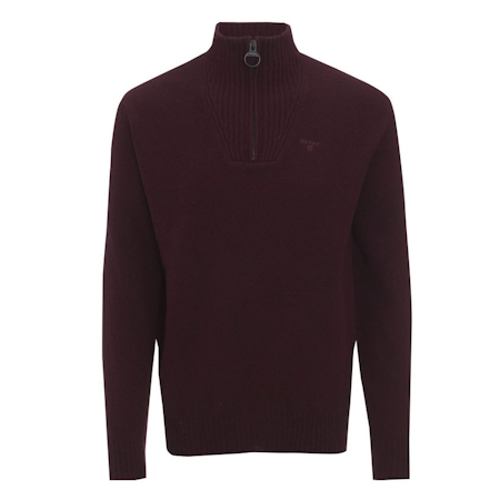 Barbour Essential Lambswool Half Zip Jumper Red Barbour Lifestyle: from the Classic capsule