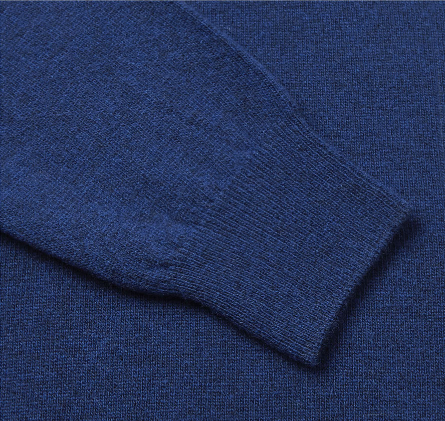 Barbour Essential Lambswool V Neck Sweater Deep Blue