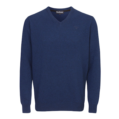 Barbour Essential Lambswool V Neck Sweater Deep Blue Barbour Lifestyle: from the Classic capsule