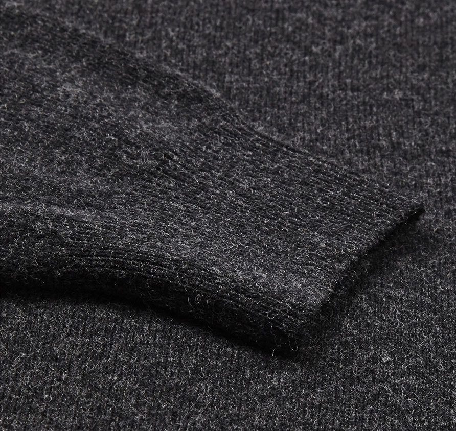 Barbour Essential Lambswool V Neck Sweater Charcoal