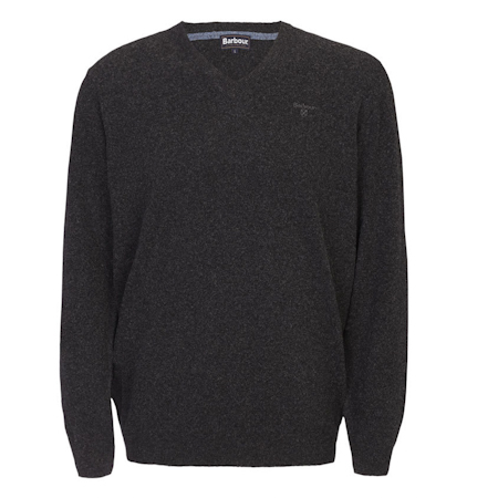 Barbour Essential Lambswool V Neck Sweater Charcoal Barbour Lifestyle: from the Classic capsule