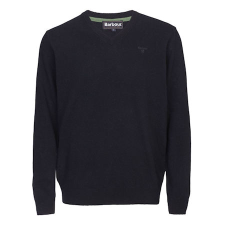Barbour Essential Lambswool V Neck Sweater Navy Barbour Lifestyle: from the Classic capsule