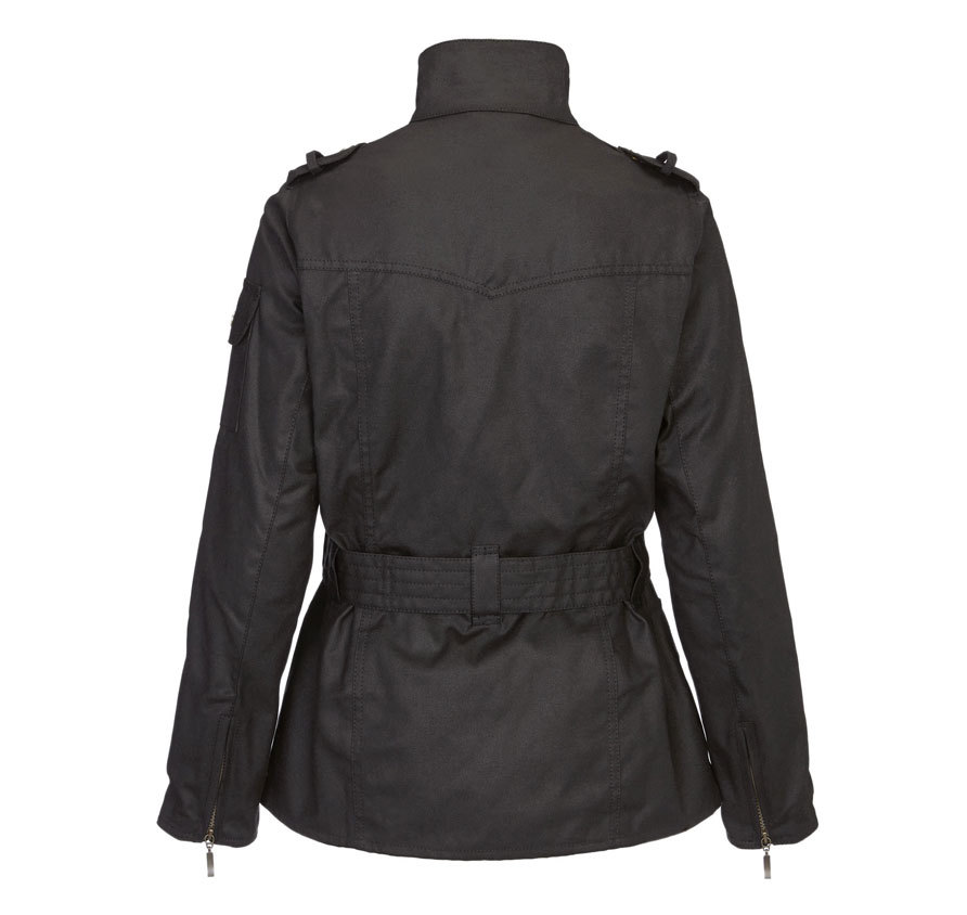 Barbour Ladies International Waxed Black