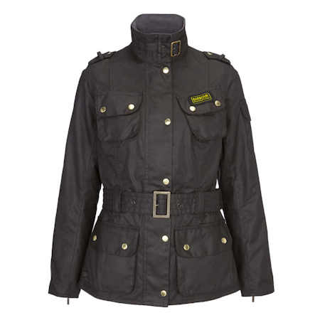 Barbour Ladies International Waxed Black Barbour International: from the Tourer capsule