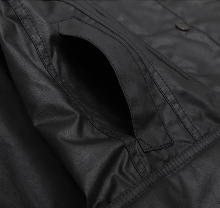 Barbour Beadnell Waxed Black