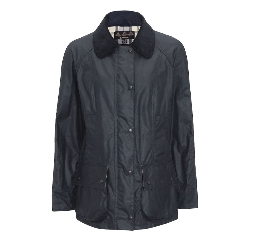 Barbour Beadnell Waxed Navy