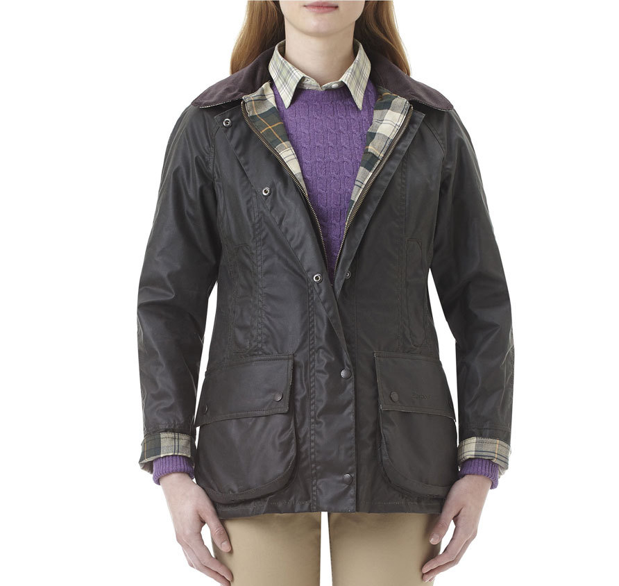 Barbour Beadnell Waxed Sage