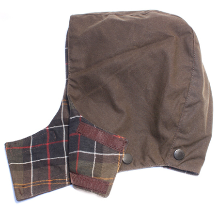 Barbour Childrens Wax Hood Olive Capucha para los Bedale o Beaufort!