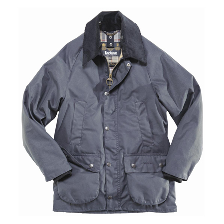 Barbour Boys Barbour Classic Bedale Waxed Navy Encerado para niño