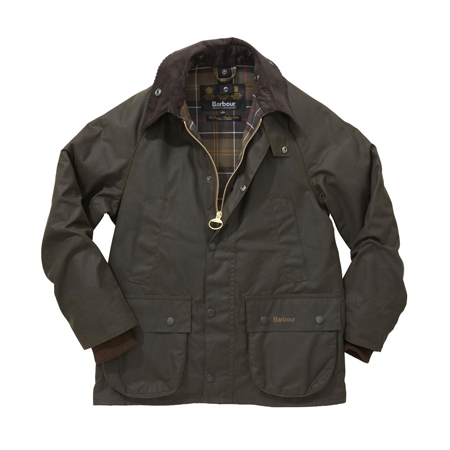 Barbour Boys Barbour Classic Bedale Waxed Olive Encerado para niño