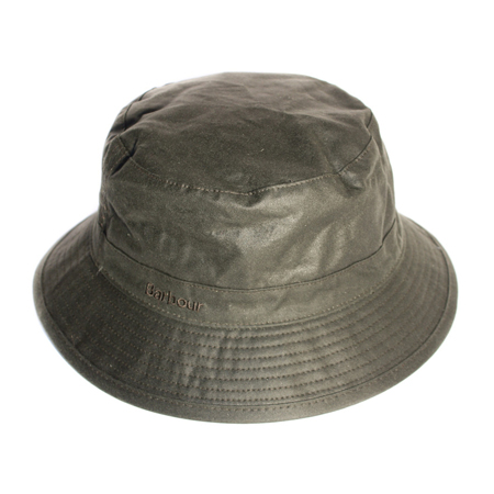 Barbour Wax Sports Hat Olive Clásico gorro de lluvia Barbour