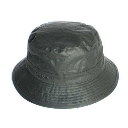 Barbour Wax Sports Hat Sage Clásico gorro de lluvia Barbour