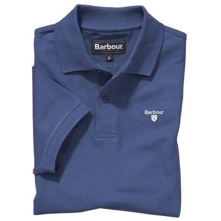 Barbour Sports Polo Shirt Deep Blue Barbour Lifestyle: From the Core Essentials capsule