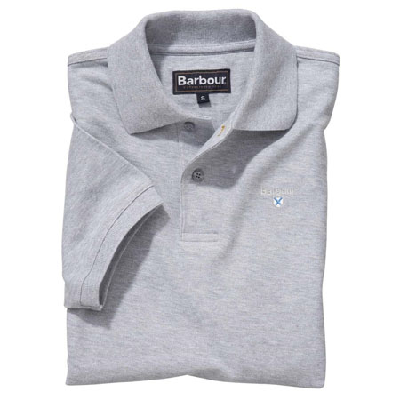 Barbour Sports Polo Shirt Grey Barbour Lifestyle: From the Core Essentials capsule