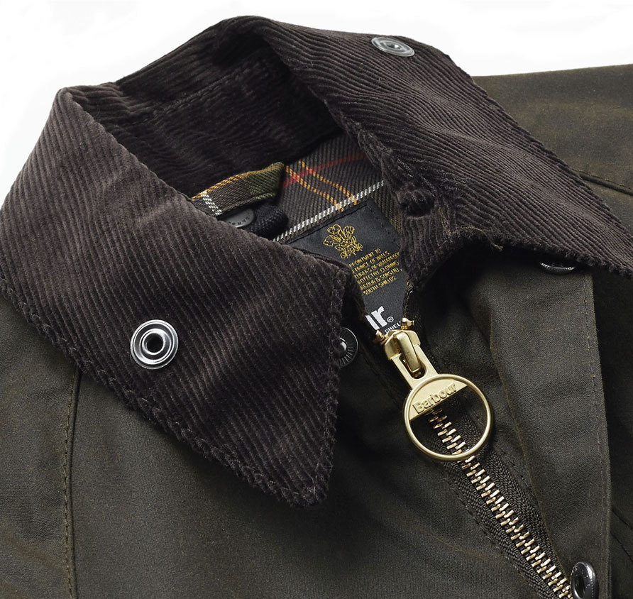 Boy´s Barbour Classic Beaufort Waxed Olive