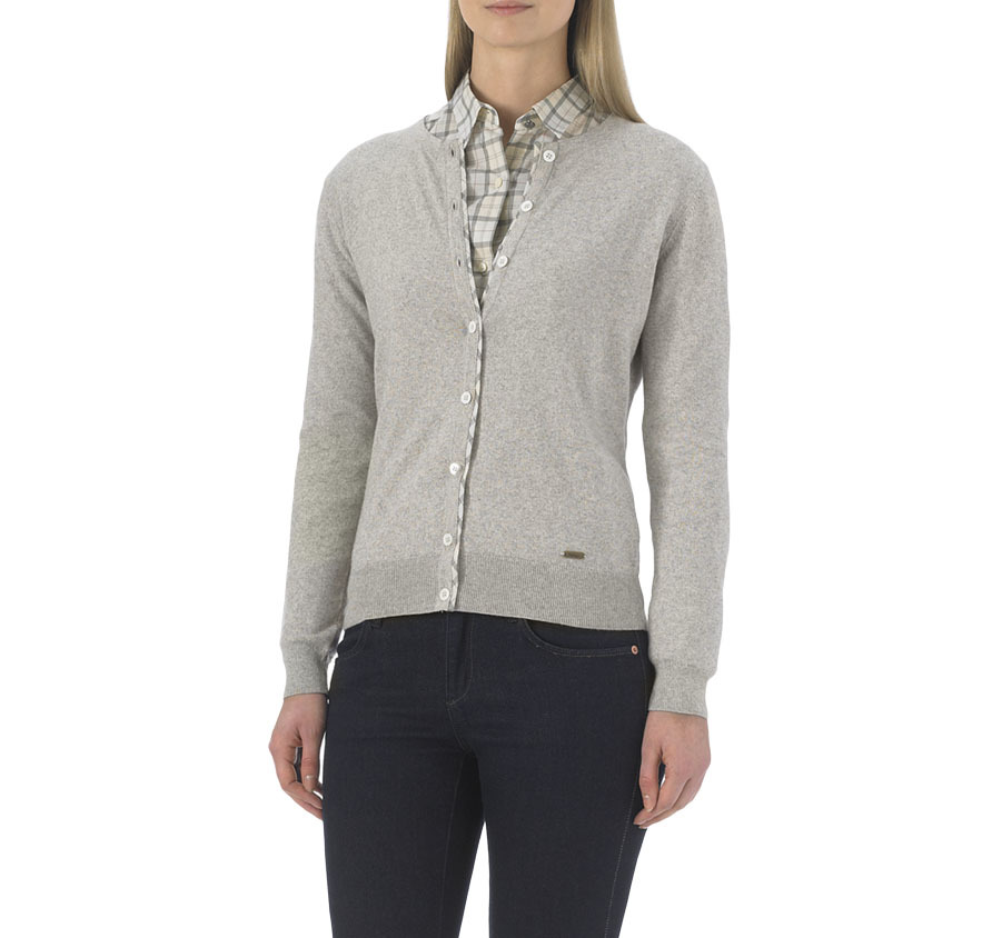 Barbour Hamerley Cropped Cardigan Stone