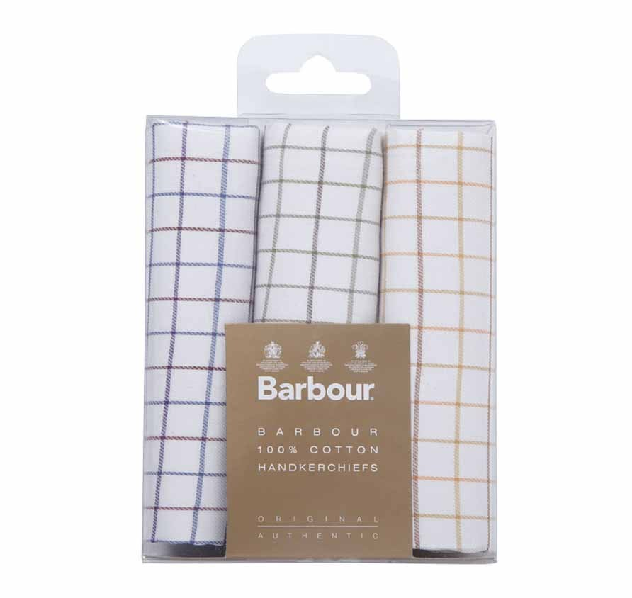 Tartan Handkerchiefs Boxed Set of 3 Tatter Pack de pañuelos