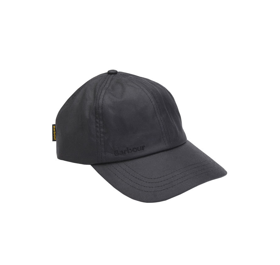 Barbour Wax Sports Cap Black Barbour Sporting: from the Shooting capsule