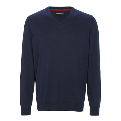 Barbour Barbour Cotton Cashmere V-Neck Sweater Navy Barbour Lifestyle: From the Core Essentials capsule