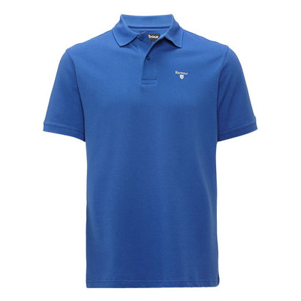 Barbour Sports Polo Shirt Blue Barbour Lifestyle: From the Core Essentials capsule