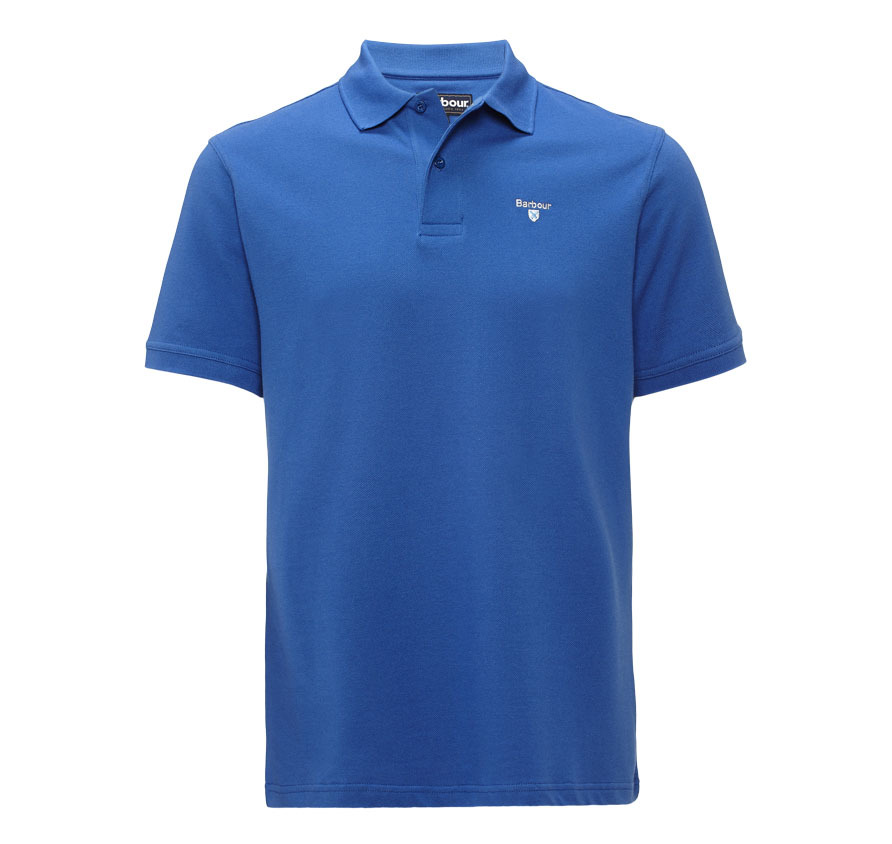 Barbour Sports Polo Shirt Blue