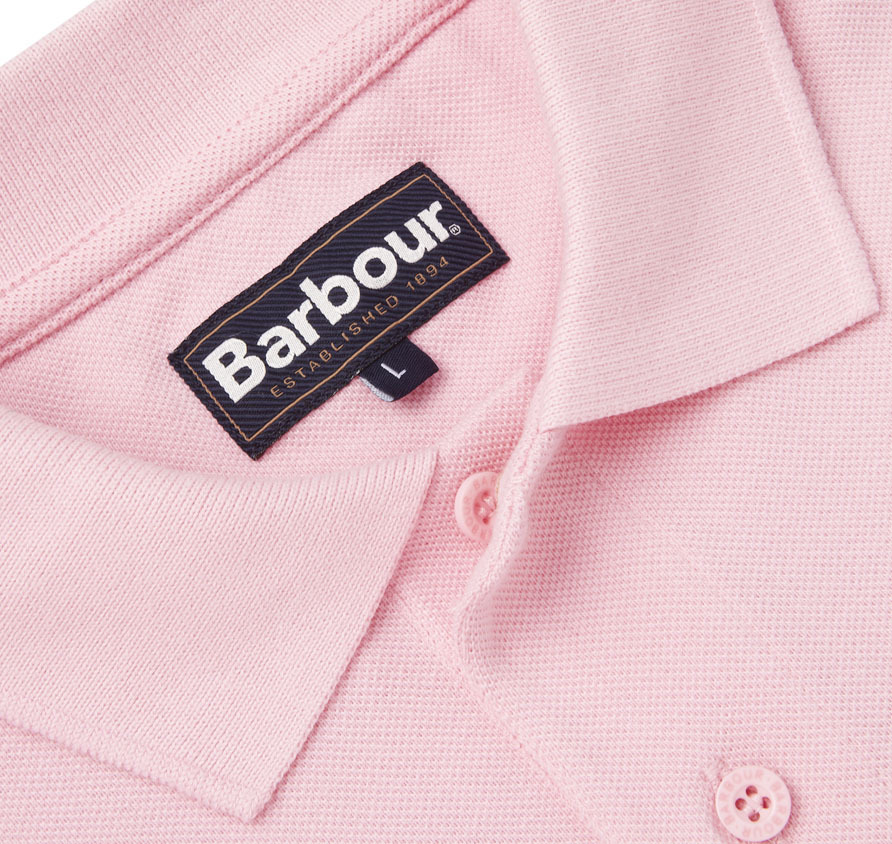 Barbour Sports Polo Shirt Pink