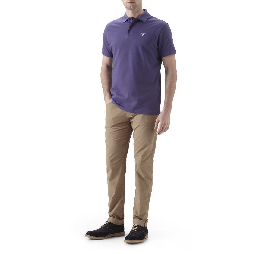 Barbour Sports Polo Shirt Purple