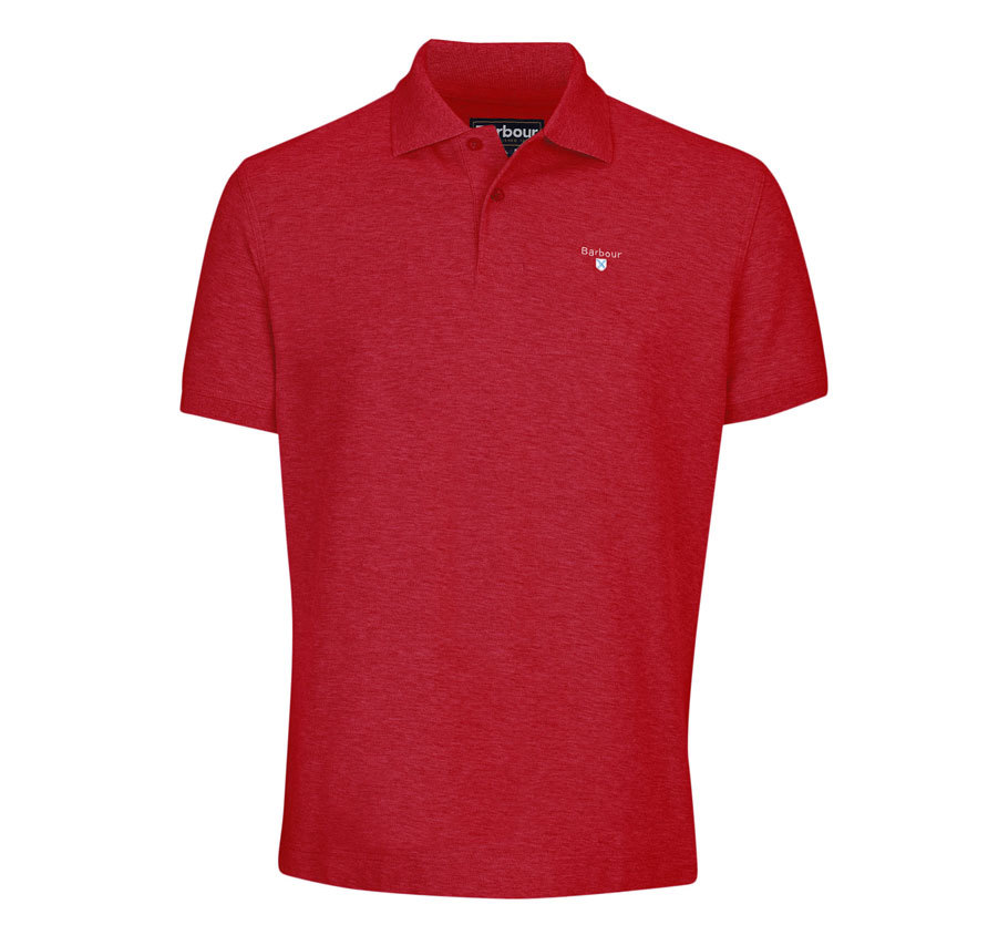 Barbour Sports Polo Shirt Red
