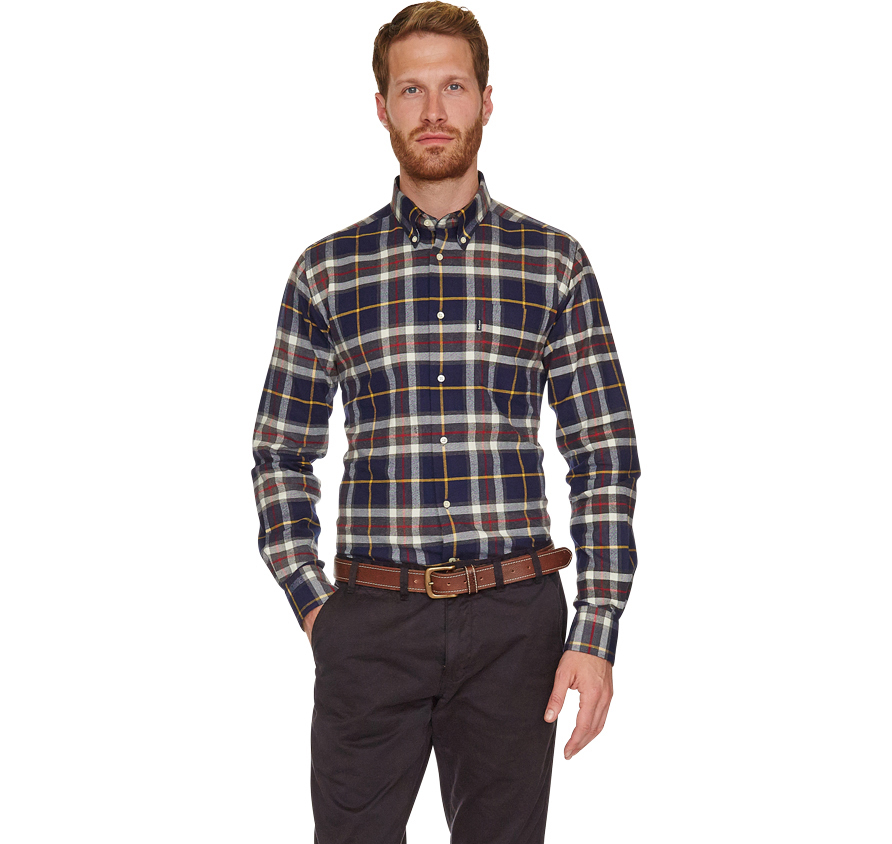Barbour Castlebay Shirt Navy Barbour Lifestyle: From the Core Essentials collection