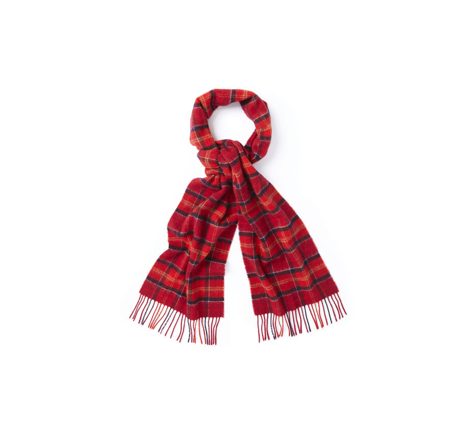 Barbour Tartan Lambswool Scarf Cardinal Barbour Lifestyle: from the Classic Tartan capsule